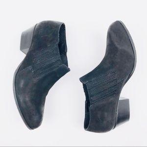 Steve Madden Slip On Ankle Boots Black Block Heel